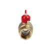Усиленный латунный шаровый кран Дист Ду20, ВР/ВР, ручка — бабочка