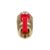 Усиленный латунный шаровый кран Дист Ду25, ВР/ «Американка», ручка — рычаг