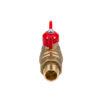 Усиленный латунный шаровый кран Дист Ду15,  ВР/ «Американка», ручка — бабочка