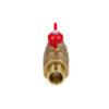 Усиленный латунный шаровый кран Дист Ду20,  ВР/ «Американка», ручка — бабочка
