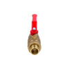 Усиленный латунный шаровый кран Дист Ду20, ВР/ «Американка», ручка — рычаг